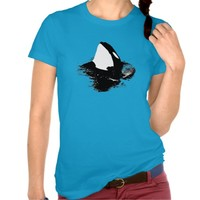 "Orca ""killer whale"" shirt- Blue"