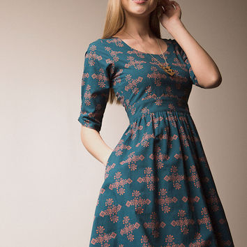 Serephina Dress - Teal
