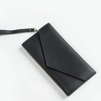 Karis Black Envelope Clutch