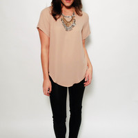 Silky Blouse - Taupe Blush
