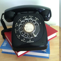 Black Vintage Rotary Telephone