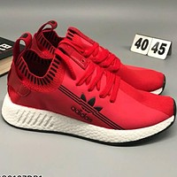 Adidas NMD fashion comfortable shock absorber casual sneakers F-CSXY red