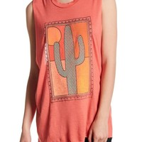 Project Social T | Framed Cactus Front Graphic Print Tank