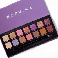 14 Colors Brand Norvina Eyeshadow Pallete Soft Glam Modern Sweet Dream Glow Kit Shimmer Eyeshadow Palette Iluminador Maquiagem