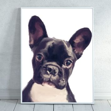 Boston Terrier, Boston Terrier Art, Dog Painting, Dog Print, Dog Lover, Dog Decor, Dog Mom, Dog Lovers Decor, Dorm Decor, INSTANT DOWNLOAD