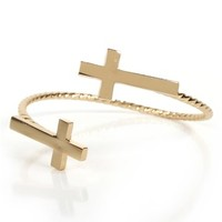 Cross Twisted Cuff Bracelet
