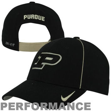 Nike Purdue Boilermakers Dri-FIT Legacy 91 Coaches Adjustable Performance Hat - Black