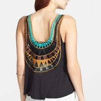 Lush Embroidered Back Tank (Juniors)