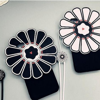 Sun flower phone case for iphone 5 5S SE 6 6s 6 plus 6s plus + Nice gift box 072301