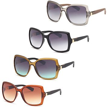 AFONiE Large Diva Square Farme Sunglasses for women - 4Pack