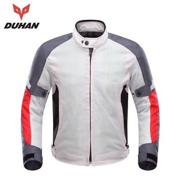 DUHAN  Motorcycle Jacket Men Summer Breathable Motorcycle Racing Jacket Motocross Clothing Motoqueiro Campera Moto Hombre
