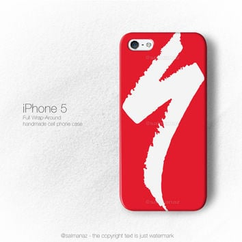 Specialized Bike Logo Cycling Bicycle Team Red iPhone 3, 4, 5, 6 Case Cover Series