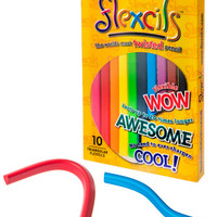 Flexcils: Bendable, flexible, and twistable colored pencils.