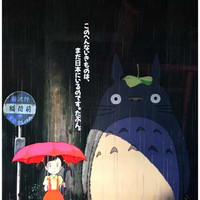 My Neighbor Totoro Rainy Day Poster 11x17