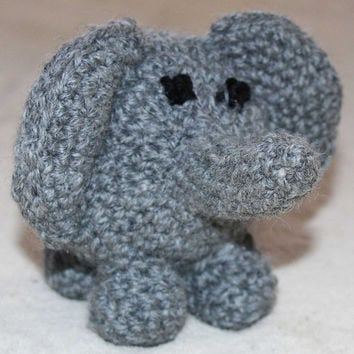 Elephant Stuffed Animal - Crochet