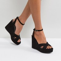 Miss KG Strappy High Wedge Sandal at asos.com