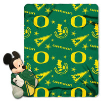 Oregon Ducks NCAA Mickey Mouse with Throw Combo