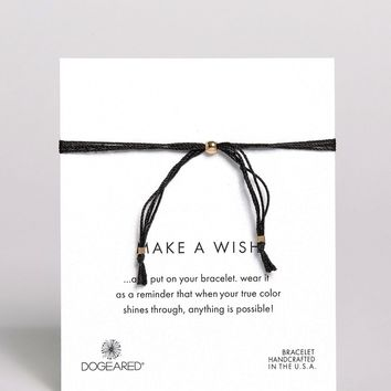 Dogeared Make A Wish Multi Strand BlackSilk Adjustable Bracelet at asos.com
