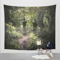 A Secret Garden Wall Tapestry by Jenndalyn