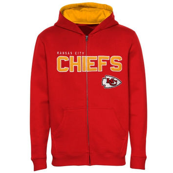 Kansas City Chiefs Youth Fan Gear Stated Full Zip Team Color Hoodie - Red - http://www.shareasale.com/m-pr.cfm?merchantID=40295&userID=1042934&productID=549285880