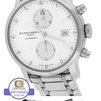 Baume & Mercier Classima Executive XL Chronograph White 42mm 65591 8732 Watch