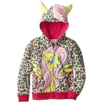 DCCK8UT My Little Pony Fluttershy Front Girls Youth Costume Zip Hoodie