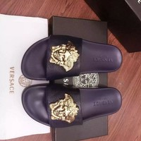 Versace Women Men Fashion Casual Slipper Shoes