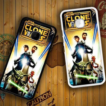 The Clone Wars film poster Z0599 HTC One S X M7 M8 M9, Samsung Galaxy Note 2 3 4 S3 S4 S5 (Mini) S6 S6 Edge