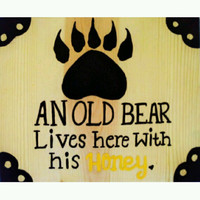Wood Sign, Novelty Sign, Couples Sign, Wood Wall Decor, Silhouette Wall Art, gift idea, Wildlife Wall Art, Funny Wood Sign, Anniversary Gift