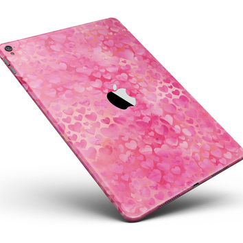 "Pink Watercolor Hearts V3 Full Body Skin for the iPad Pro (12.9"" or 9.7"" available)"