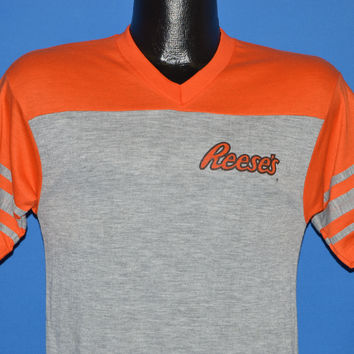 80s Reese's Peanut Butter Cup Jersey t-shirt Small