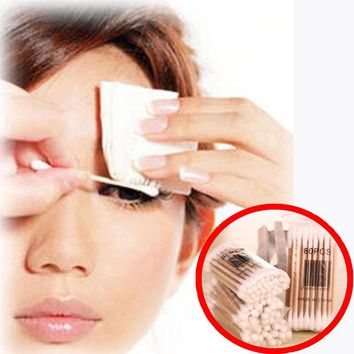 2 Bags Hot sale Double-head Wooden Cotton Swab Medical Cure Health Makeup Stick