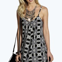 Ally Aztec Print Swing Playsuit
