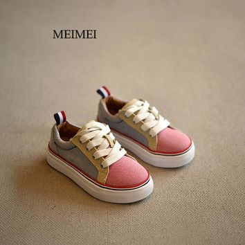 2018 New Brand children shoes Fashion girls canvas shoes student Flat kids boys loafers sneakers toddler baby shoes for sports