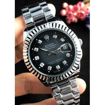 Rolex 2019 new men and women models wild waterproof quartz watch #2