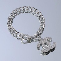 Chanel Woman Fashion Logo Bracelet For Best Gift