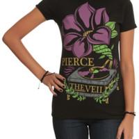 Pierce The Veil Flower Record Player Girls T-Shirt