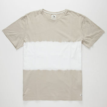 Quiksilver Double Dip Mens T-Shirt Light Grey  In Sizes