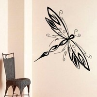 Wall Decals Dragonfly Insect Fly Bedroom Art Vinyl Sticker Decor DA2196