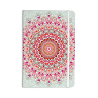 "Iris Lehnhardt ""Summer Lace III"" Circle Pink Green Everything Notebook"