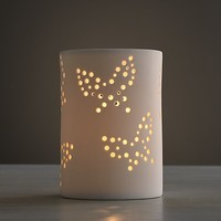 Perforated Butterfly Porcelain Nightlight