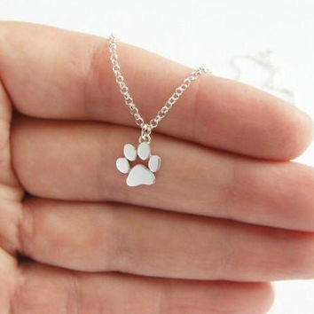 Cats Paws Print Necklace