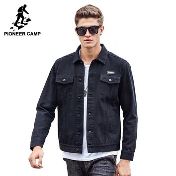 Pioneer Camp Men Jacket  100% cotton 2017 New Coat Fashion Trench famous Brand Casual Fit Tooling cargo Jacket  611309