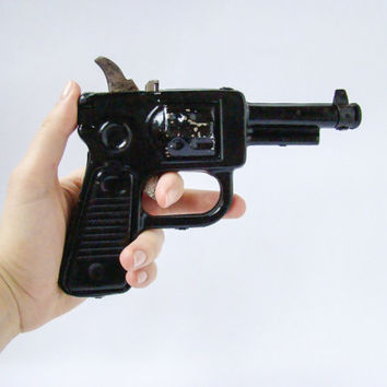 Vintage Soviet Toy Gun / Rare Collectible Metal Toy Made in USSR, Circa 1970's