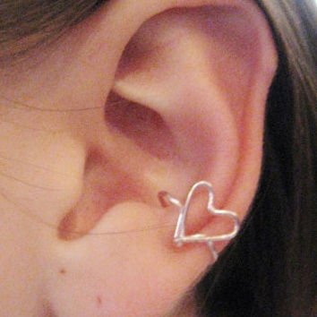 Listen to Your Heart Ear Cuff by Artistieke on Etsy