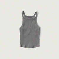 High Neck Crop Tank