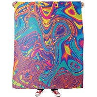 Oil Spill Fleece Blanket