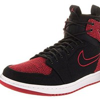 Nike Jordan Men's Air Jordan 1 Retro Ultra High Black/Gym Red/Black/White Basketball Shoe 9.5 Men US