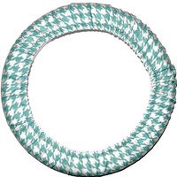 Aqua Houndstooth Steering Wheel Cover, Custom Car Accessory, Riley Blake Fabric, Made in USA, Cute Girly Car Wheel Cover