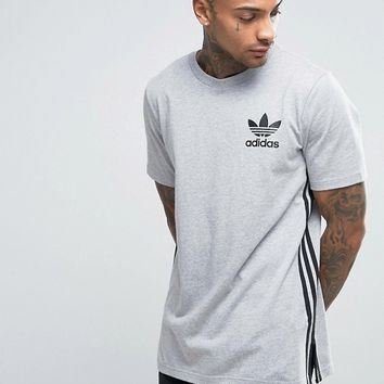adidas Originals Longline T-Shirt In Grey BK7586 at asos.com